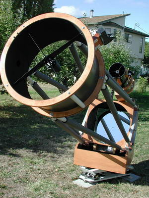 "The Telescopes and Equipment The 25"" f/5 Dobsonian Telescope from Obsession Telescopes and 12.5"" f/4.8 Homemade Dobsonian Telescope with Primary Mirror from ..."
